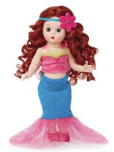 Mermaid Princess, Princess Peach, Disney Princess, Tan Brunette, Disney Dolls, Madame Alexander Dolls, Heart Jewelry, The Little Mermaid, Disney Characters