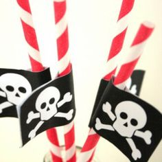 Pirate Straw Flags