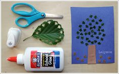 7 Cutting and Pasting Fall Themed Art Projects for Kids including Leaf Tree from Lalymom