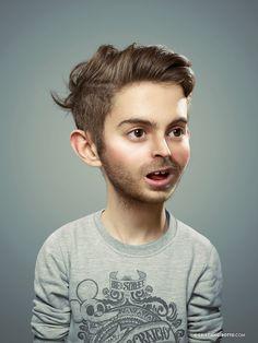 Cristian Girotto utiliza el retoque fotográfico para mostrarnos el niño que todos tenemos dentro