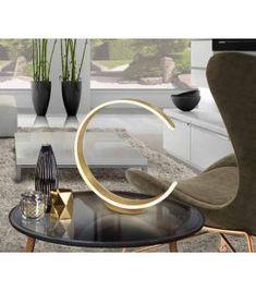 Comprar online Lámpara LED auxiliar modelo OZONO Oro Wishbone Chair, Living Room, Home Decor, Diffuser, Model, Steel, Modern Table Lamps, Matte Gold, Color Temperature
