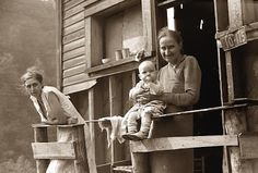 The family of a West Virginia coal miner during the 1930s.