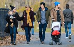Lou, Lux, Tom, Taylor, and Harry in Central Park yesterday