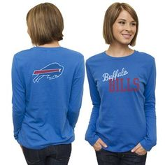 Buffalo Bills Ladies Game Day Long Sleeve T-Shirt - Royal Blue