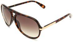 Marc By Marc Jacobs Women's MMJ 276-S MMJ276S Aviator Sunglasses,Havana Frame/Brown Grey Grad Lens,One Size. Lenses are prescription ready.
