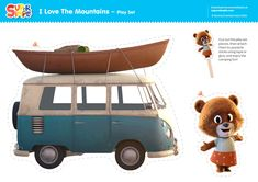 Act out the I Love The Mountains video and you can join Super Simple's Three Bears on a camping adventure! Camping Activities For Kids, School Songs, Super Simple, Bears, Join, Adventure, Play, Mountains, Adventure Movies