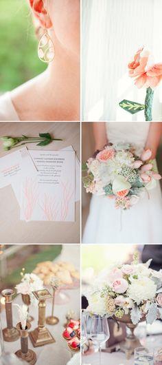 Peach Cream Gold Wedding Colors Romantic Wedding ideas 2