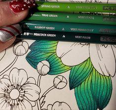 Colored Pencil Tutorial, Colored Pencil Techniques, Leaf Coloring, Coloring Tips, Lost Ocean, Diy Y Manualidades, Johanna Basford Coloring Book, Coloring Tutorial, Colouring Techniques