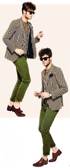 Stripes & green. Talking about edgy