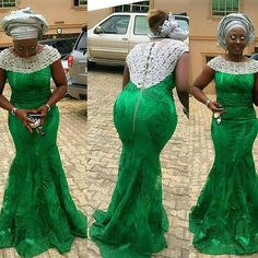 Latest Designed Aso Ebi Styles 2016 For Ladies. I've checked for some of the latest aso ebi styles designed in 2016 to satisfy your desire. African Lace Styles, African Lace Dresses, African Fashion Dresses, Ankara Fashion, Ghanaian Fashion, African Clothes, Women's Fashion, African Style, Fashion Styles