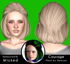 Newsea`s Courage hairstyle retextured by Magically for Sims 3 - Sims Hairs - http://simshairs.com/newseas-courage-hairstyle-retextured-by-magically/