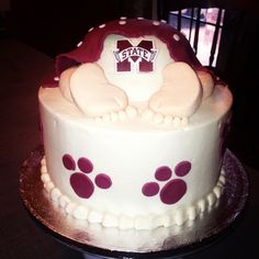 Mississippi State University baby cake. This has Liz written all over it!