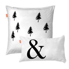 Sada 2 povlaků na polštář Ampersand Black And White Pillows, Black White, Bed Pillows, Cushions, Happy Friday, Monochrome, Pillow Cases, Pretty, Design