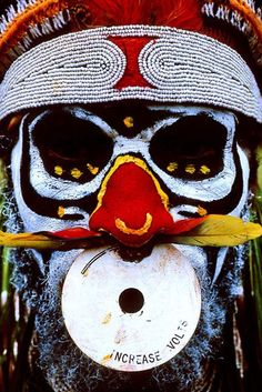 Man from the Huli Tribe in Papua New Guinea