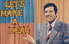 Monty Hall and hundreds of people looking like Halloween rejects