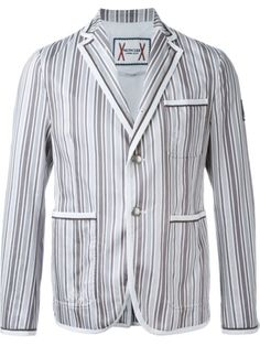 Shop Moncler Gamme Bleu striped blazer in Leam from the world's best independent boutiques at farfetch.com. Shop 400 boutiques at one address.