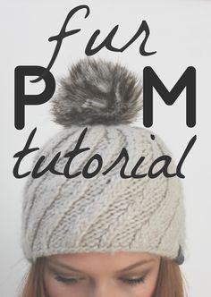 Fur Pom Pom Tutorial