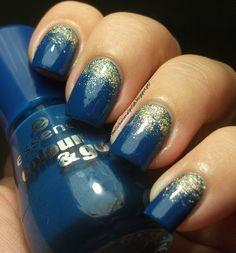 The Clockwise Nail Polish - glitter gradient mani using Essence The Boy Next Door & China Glaze I'm Not a Lion