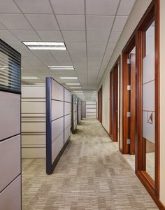 Recent installation from Milliken Carpet.  A notable component of the design solution was its contribution to Baker Tilly's sustainable efforts. The goal  was to create a functional space that not only looked good and performed well, but also created an environmentally friendly place to work.   Featuring Milliken's Consequence 2.0 floor covering collection in Upshot and Sequel.