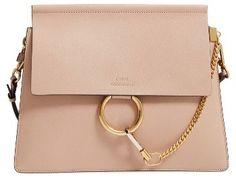 Chloe Medium Faye Goatskin Leather Shoulder Bag - Beige