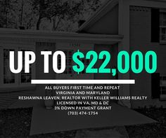 #financefriday - Get up to $22000 to buy a home in Virginia and Maryland.  Friends don't let friends pay for their down payment.  Call ReShawna at 703-474-1754 or go to http://ift.tt/2boM6lE  #fianancialhelp #downpayment #moneyprograms #realestate #homes4sale #downpaymentonahome