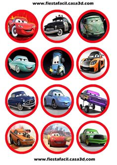 33 Super Ideas For Cars Disney Imprimibles<br> Car Themed Parties, Cars Birthday Parties, Lightning Mcqueen, Third Birthday, Boy Birthday, Family Car Decals, Planner Stickers, Disney Cars Party, Car Themes