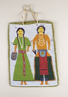 A PLATEAU BEADED CLOTH FLAT BAG. c. 1890. ... American Indian | Lot #77338 | Heritage Auctions