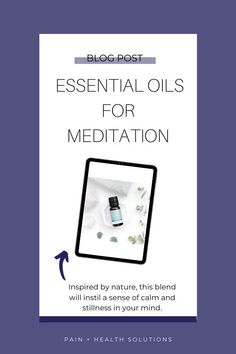 Meditation is a beautiful gift we can give our minds and bodies and is a very powerful tool in increasing overall well-being. #essentialoils #essentialoilsformeditation #meditation