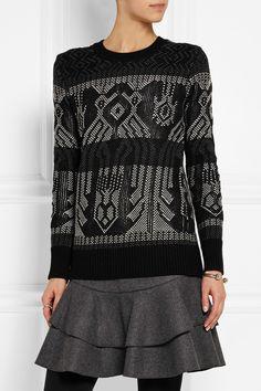 J.Crew Mixed Stitch cotton and wool-blend sweater NET-A-PORTER.COM