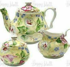 I really love, love, love this breathtakingly beautiful Chintzware Tea Set!!! Bebe'CTBelle!!! I just love this beautiful Tea Set!!!
