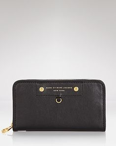 MARC BY MARC JACOBS Wallet - Preppy Leather Large Zip Around | Bloomingdale's