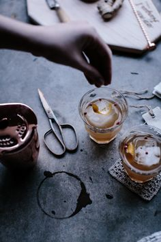 Local Milk   holiday cocktail : ginger kombucha & vodka