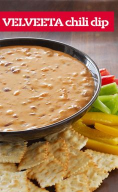 VELVEETA Chili Dip — Just 2 ingredients and 10 minutes stand between you and this VELVEETA Chili Dip. As cheesy dips go, it's a classic.