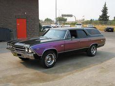purple chevy wagon