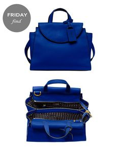 Cobalt blue satchel by Saturday #FridayFind