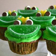 {Frog Cupcakes}