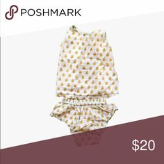 Shirt and Diaper Cover Set Gorgeous tank top that ties in the back.  Pleats on the chest.  Matching diaper cover with elastic waistband.  Floral print.  Lightweight and breathable.  Great condition.  No holes, tears, or stains. Pink Chicken Matching Sets