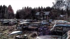 Kuvahaun tulos haulle autoromuttamo Antique Cars, Antiques, Vehicles, Vintage Cars, Antiquities, Antique, Car, Old Stuff, Vehicle