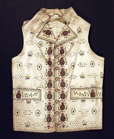 Waistcoat - silk 1790's