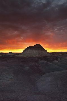 Flames - Painted Desert, Arizona