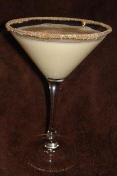 Banana Cream Pie Martini (2 ounces premium vanilla vodka   1 ounce banana liqueur   1 ounce Baileys Irish Cream)
