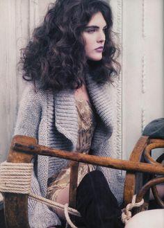 Campaign : Blumarine Season : Fall 2006 Photographer : Craig McDean Model(s) : Hilary Rhoda, Anna Mariya Urazhevskaya Hilary Rhoda, Strike A Pose, Great Photos, Going Out, Curls, Vogue, Dreadlocks, Glamour, Poses