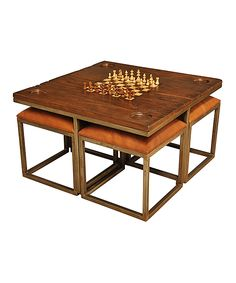 Game Table & Stool Set