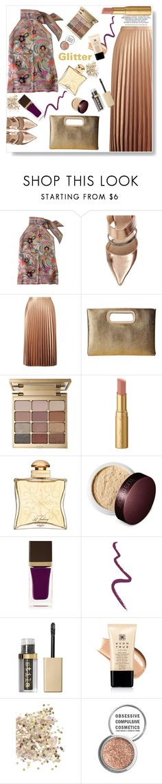 """Glitter"" by gul07 ❤ liked on Polyvore featuring Fendi, Miss Selfridge, Jessica McClintock, Stila, Too Faced Cosmetics, Hermès, Laura Mercier, Tom Ford, Topshop and Avon"