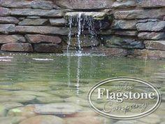 Waterval gemaakt van Violetto flagstones.