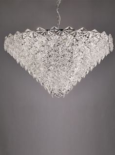 cc998d3c996 FL2351 18 Mosaic 18 Light Pendant in Chrome with hexagonal crystal glass  plates. Height