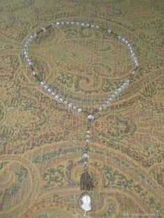 Rosario de cristal S.XIX con camafeo en marfil y oro - Foto 1