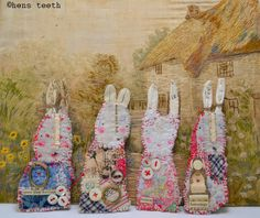 rabbits by hen's teeth, via etsy