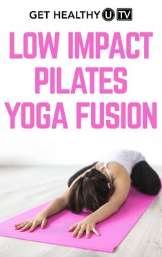 Pilates yoga fusion is the perfect blend of pilates and yoga, flexibility and core strength to really work intensity without a lot of impact. This awesome workout is all about balance. You can do it barefoot or put on shoes if you prefer. The pilates portion of the workout will remind you to breathe using your core and engage the entire middle of your body. The yoga portion will stretch and lengthen your muscles. You will also notice a little burn in your legs and feel your heart rate coming…