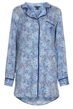 6531619132 Floral Print Nightshirt Pajama Party